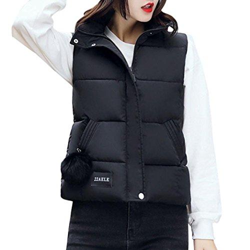 Sonnena Down Weste Damen Puffer Jacke Mantel Weste verstaubarer Ultra Light Gewicht M schwarz (Jacke Mantel Puffer)