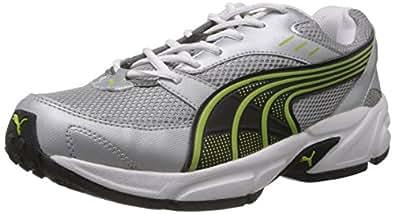 Puma Men's Storm 3.5 Grey and Green Mesh Running Shoes - 8 UK/India (42 EU)