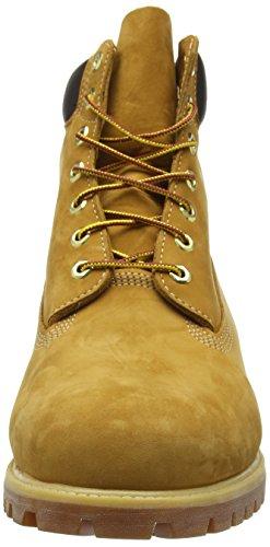 """Timberland Herren 6 6"""" Premium Boot Combat Gelb (Wheat Nubuck)"""