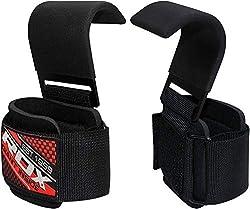 RDX Zughilfen Haken Bodybuilding Handgelenkbandage Krafttraining Zughilfe Fitness Gewichtheben Klimmzughaken Gewichtheberhaken Straps Power Lifting Hooks Latzughilfen
