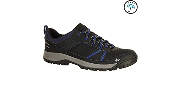 2f28be9ad50848 QUECHUA ARPENAZ 100 Men s Waterproof Hiking Shoes - Black  Amazon.in   Sports