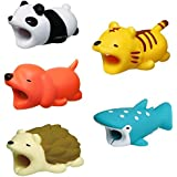 5 Pack Animal Phone Cord Bites,Cable Protector For IPhone,Cute Animals Protects Cell Phone Accessories & Bites Data Line - Bite Cord Phone Accessory