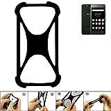 K-S-Trade Bumper Hisense Rock Lite Silikon Schutz Hülle Handyhülle Silikoncase Softcase Cover Case Stoßschutz, schwarz (1x)