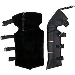 1-1 Moto Rodilleras Ajustable Al Aire Libre Equitación Hombres Invierno Engrosado Viento Calentar Impermeable Negro