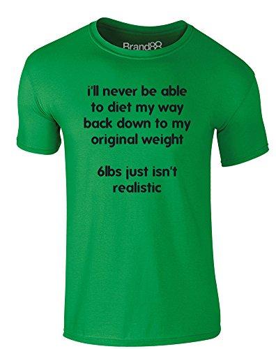 Brand88 - Original Weight, Erwachsene Gedrucktes T-Shirt Grün/Schwarz