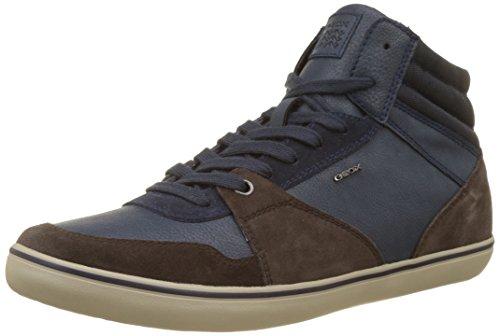 Geox Herren U Box J Hohe Sneaker, Blau (Dk Coffee/Navy), 43 EU (Tennis-schuhe Box)