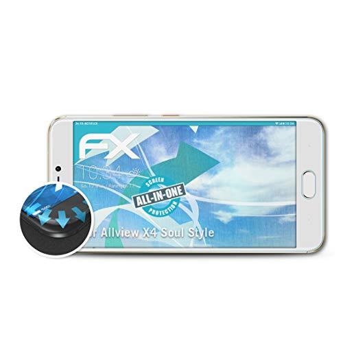 atFolix Schutzfolie passend für Allview X4 Soul Style Folie, ultraklare & Flexible FX Bildschirmschutzfolie (3X)
