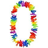 Ciffre Hawaii Blumenkette Classic Luxus Knall Bunt Hippi Hippie Bunt Blüten Länge ca. 100cm - Rainbow Bunt