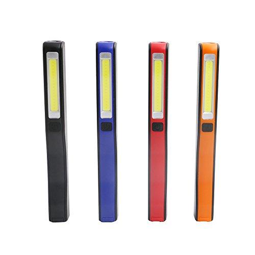 Seitor Mini LED PVC Penlight lampe de poche Résistante à l'Eau Torche Intensité Torche, alimenté par batterie, avec clip et aimant, poids léger, Avec Clip pour Randonnée Situations d'urgence