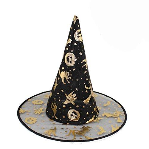 Zolimx Damen Schwarze Hexe Hut Für Halloween Costume Accessoires