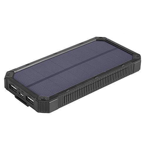 Solar-ladegeräte 15000mah, soluser tragbare zwei usb-solar-ladegeräte den akku schnell, solar-handy ladegeräte macht bank mit 6 led taschenlampe für smartphones tablette kamera