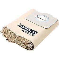 Kärcher Sac Filtre x5 pour Aspirateur A2231, A2251, A2254, A2534, A2554