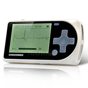 ECG Monitor - Handheld EKG Machine - Home Use Heart Monitoring - Handheld or Electrodes - Heartbeat Detector - MD100A15 Model (3-lead Cable, USB & Software INCLUDED)