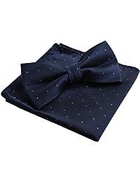 Alizeal Mini Topos-Pajarita y Pañuelo para Hombre Marino Oscuro
