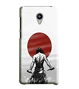 Hi-Me Designer Phone Back Case Cover Meizu MX5 ( Strong Calm Sword Shaolin Fighter )