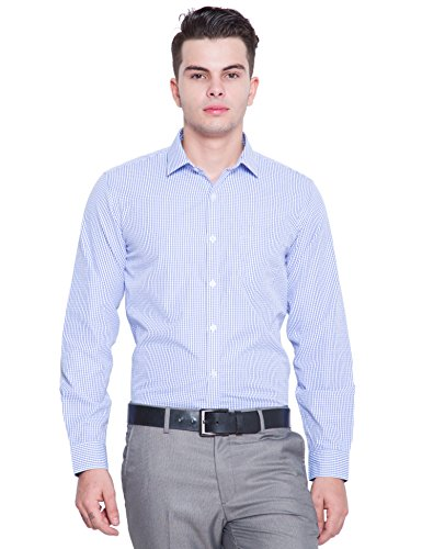 Mark Taylor Formal Shirt (MTSH016665_42_WHITE/BLUE)