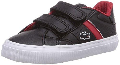 Lacoste FAIRLEAD FSM, Unisex-Kinder Sneakers Schwarz (BLK/RED 1B5)