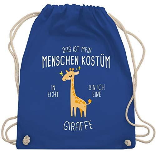 Bin Beutel Kostüm - Karneval & Fasching - Das ist mein Menschenkostüm in echt bin ich eine Giraffe - Unisize - Royalblau - WM110 - Turnbeutel & Gym Bag
