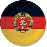 10 Pappteller im * DDR * für Party und Geburtstag von DH-Konzept // Teller Partyteller Party Fete Mottoparty Deutsche Demokratische Republik Schwarz Rot Gold...