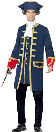 Herren Viktorianischen Zeitalter Im Kostüme (Halloweenia - Herren Piraten Kommandanten Kostüm, L,)