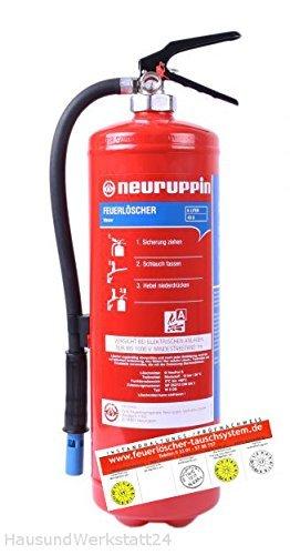 6L Wasserlöscher W6DS - Feuerlöscher 12 LE FLN Neuruppin (Instandhaltungsnachweis HausundWerkstatt24)