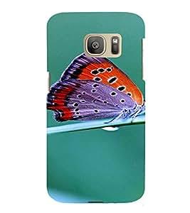 PrintVisa Butterfly Design 3D Hard Polycarbonate Designer Back Case Cover for Samsung Galaxy S7