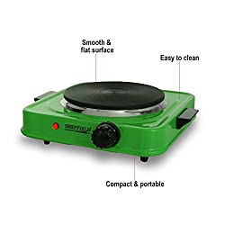 Sheffield Classic Electric Stove Hot Plate Cook-top 1500 watts SH-2001-Black (Green)