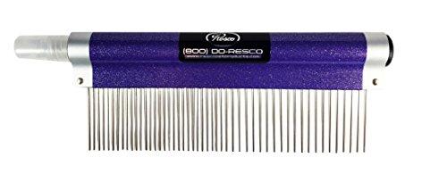 Resco Spritzer Kamm für Haustiere, 3,8 cm Kombination, glitzernd, Violett, inklusive Entwirrer und Finishing-Spray (Violett Haar Spray)