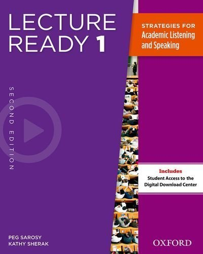Lecture Ready Student Book 1, Second Edition by Peg Sarosy (2013-03-21)