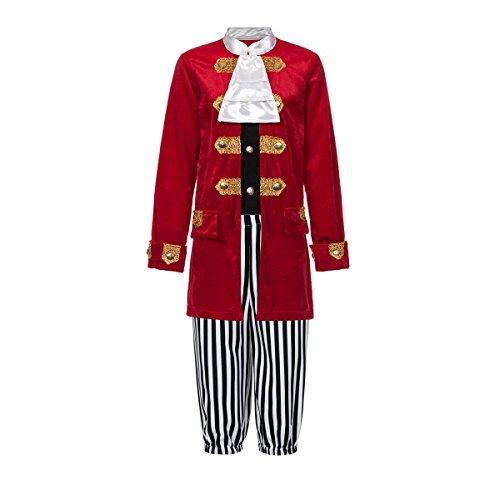 Kostümplanet® Piraten-Kostüm Deluxe Kinder Jungen Seeräuber Kapitän Größe (Deluxe Piraten Kostüme Kapitän)