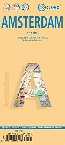Amsterdam 1 : 11 000. Einzelkarten: Amsterdam, Amsterdam Centrum, Amsterdam & Regio. Metro-Link GVB-Lines. Laminiert (Amsterdam Stadtplan)