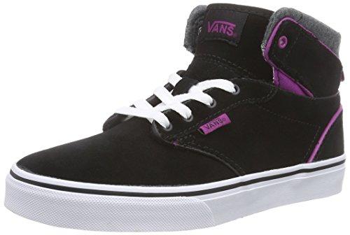 VansZ ATWOOD HI MTE - Sneaker Ragazza , Multicolore (Mehrfarbig (MTE) black/deep orchid)), 36