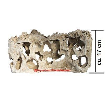 Aquarium Naturlochgestein, Dekor-Lochstein, S-Form Größe: ca. 39x13x17 cm