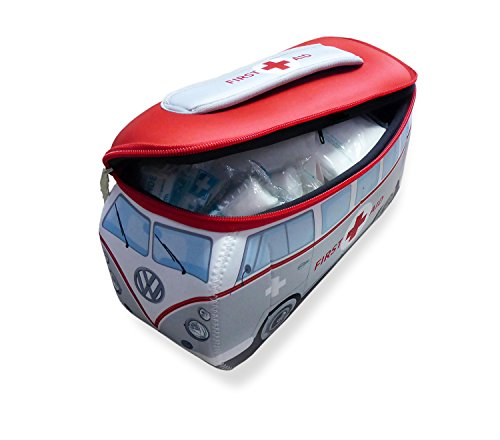 BRISA VW Collection VW T1 Bus 3D Neopren Mäppchen - First Aid/inkl. Erste-Hilfe Set