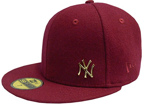 New Era Cap Melton Metal New York Yankees rot (carmine gold)