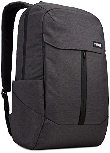 Thule 153425 Lithos Rucksack (Großes Laptop/Tablet-Fach, SafeZone-Fach, gepolsterter Rücken) Schwarz, 20L