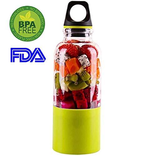 Mixer Smoothie Maker Tragbarer Saftpresse Elektrischer Frucht Blender Smoothie Maker Mixer USB-Saftmixer Wiederaufladbar, BPA Frei für hervorragendes Mixen