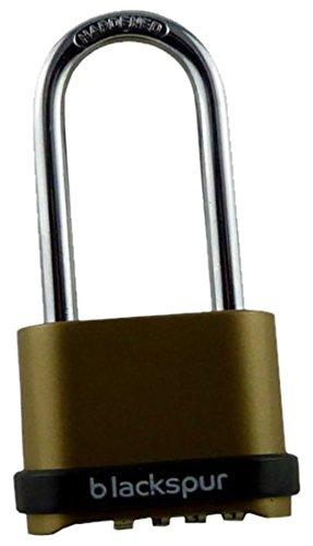 Blackspur BB-PD202 - Candado de combinación con grillete largo (4 dígitos)