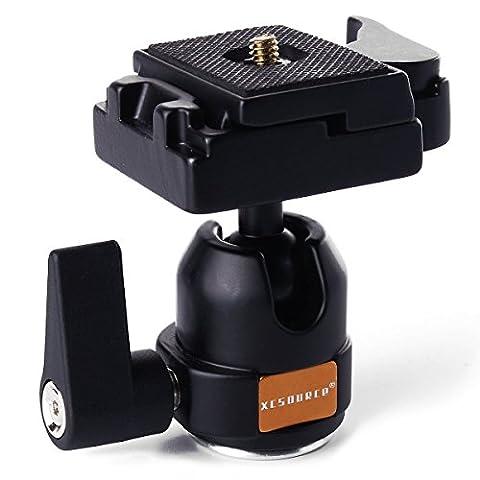Kugelgelenk mit Schnellwechselplatte Kamera Stativ schwarz Monopod Kugelkopf Stativ Kopf mit Schnellwechsel Kameraplatte Monopod Tripod für Camera Canon 70D 60D 700D 650D 600D 1100D Nikon D7100 D7000 D5200 D5100 D3200 PentaxLF24