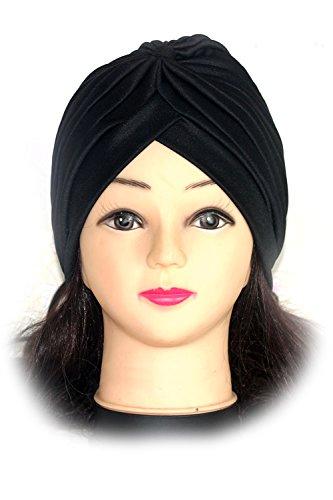 Aus Polyester-Turban Sun Mütze Hut schwarz