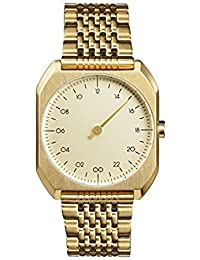 Slow Mo 04 Montre bracelet Mixte, Acier inoxydable, couleur: Or
