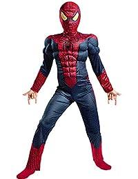 JUFENG Increíble Traje Azul De Spiderman para Niños Musculosos Disfraces De  Halloween 3D Niños Niños La Araña Hombre Máscara Niño… 10ddf0d4c28