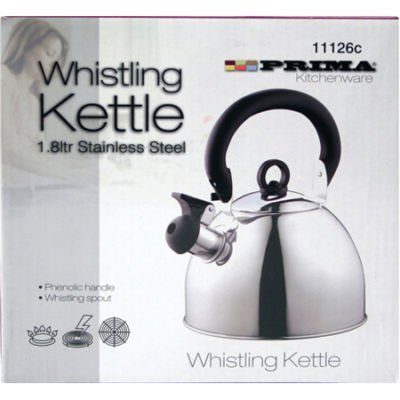 WHISTLING KETTLE 1.8 LITRE STAINLESS STEEL SILVER by Prima