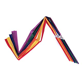 American Educational Products Rhythm Ribbon, 3' Length, Assorted Colors, Set of 6