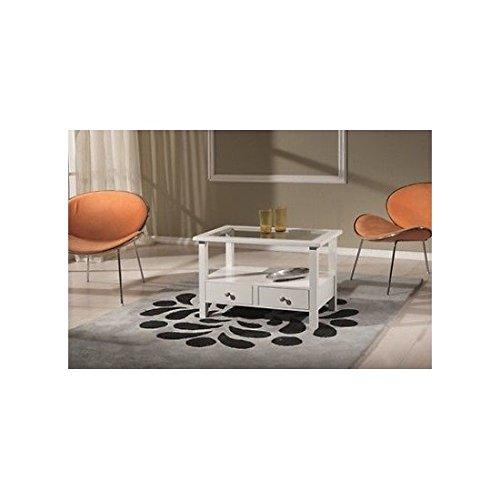 EsteaMobili estea Bois Meubles – Table Basse rectangulaire laqué Blanc