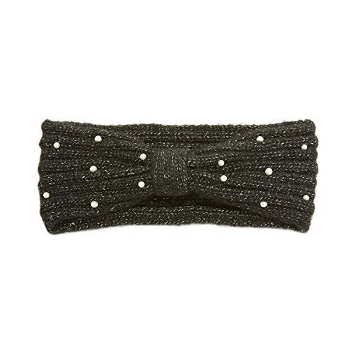 La redoute collections uniross donna fascia fiocco con perle finte taglia tu nero
