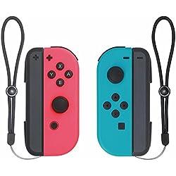 BCLA Nintendo switch Joy-con comfort grip con cavo di ricarica tipo C per Nintendo switch-(BlueRed) (set di 2)