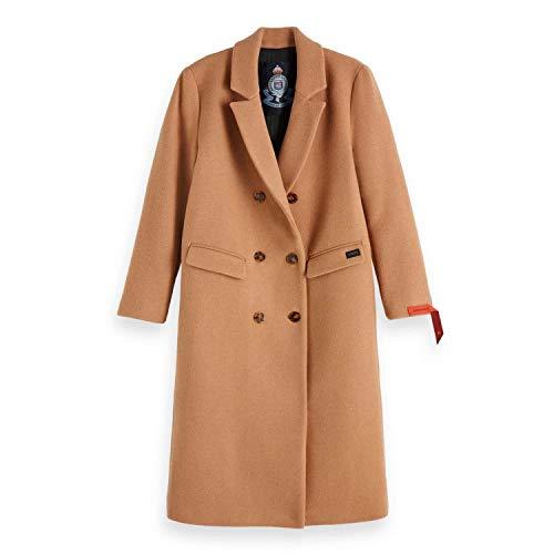 Scotch & Soda Maison Damen Jacke Long Double Breasted Tailored Wool Coat, Beige (Camel 68), Medium (Herstellergröße: M) -