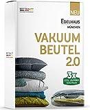 Edelhaus 3er Set Vakuumbeutel [Verbesserte Version] Vakuumier Beutel Kleidung - Vakuumierbeutel für...