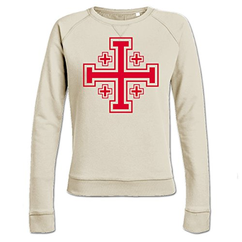 Jerusalemkreuz Frauen Sweatshirt by Shirtcity